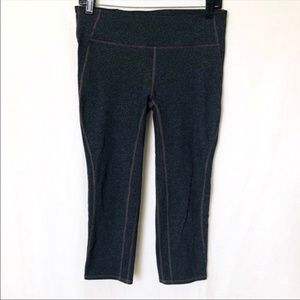 Gap Fit Gray Cropped Tights size Medium